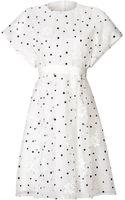 Giambattista Valli Short Sleeve Dot Flare Dress - Lyst
