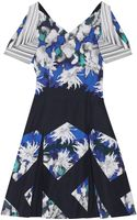 Peter Pilotto Tallulah Woven Cotton Mini Dress - Lyst