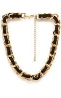 Forever 21 Faux Suede Chain Choker - Lyst