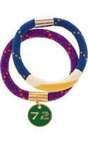Marc By Marc Jacobs Set Of Two Braided Cord and Enamel Bracelets - Lyst