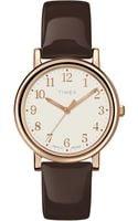 Timex® Womens Originals Classic Mocha Leather Strap 33mm T2p465ab - Lyst