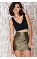 Nasty Gal Vintage Gianni Versace Heart Of Gold Skirt - Lyst