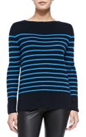 Vince Cashmere Ribbed Striped Sweater - Lyst