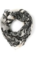 McQ by Alexander McQueen Lace Print Scarf - Lyst