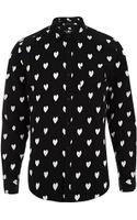 River Island Ikat Heart Print Long Sleeve Shirt - Lyst