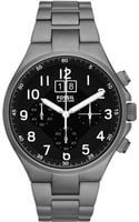 Fossil Mens Chronograph Qualifier Smoketone Stainless Steel Bracelet Watch 46mm - Lyst