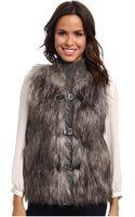 Calvin Klein Faux Fur Sweater Vest - Lyst