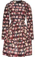 Marni Printed Wool and Silk-blend Dress - Lyst