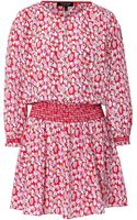 Juicy Couture Silk Printed Sugar Tulips Dress - Lyst