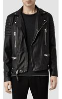 AllSaints Kane Leather Biker Jacket - Lyst