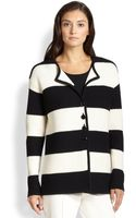 St. John Striped Knit Jacket - Lyst