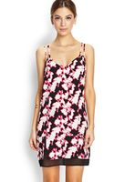 Forever 21 Abstract Floral Shift Dress - Lyst