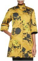 Etro Floral Duchess Satin Coat - Lyst