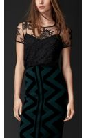 Burberry Embroidered Lace Top - Lyst