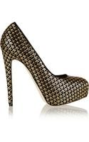 Brian Atwood Maniac Embellished Suede Pumps - Lyst