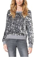 Michael Kors Sequined Cotton-blend Sweater - Lyst