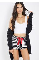 Forever 21 Striped Flannel Pj Shorts - Lyst