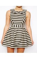 Asos Exclusive Striped Skater Dress - Lyst