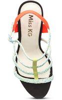 Miss Kg Elvie Glitter Statement Sandals - Lyst
