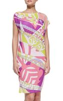 Emilio Pucci Printed Slubjersey Coverup Dress - Lyst