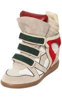 Isabel Marant 80mm Wila Suede Wedge Sneakers - Lyst