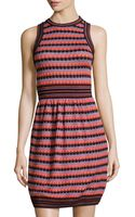 M Missoni Crochet Round-neck Dress - Lyst