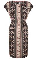 Saint Tropez Tribal Print Dress - Lyst