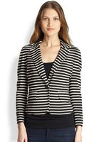 Tory Burch Striped Knit Blazer - Lyst