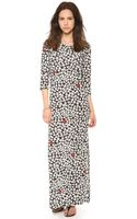 Sonia By Sonia Rykiel Printed Heart Maxi Dress - Lyst
