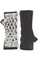 Dolce & Gabbana Embellished Sleeveless Gloves - Lyst