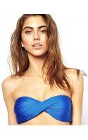 Seafolly Shimmer Twist Bandeau Bikini Top - Lyst