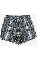 Exclusive For Intermix Printed Silk Cargo Shorts - Lyst