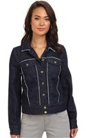 7 For All Mankind Raw Edge Denim Jacket in Raw Edge Denim - Lyst