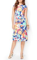 Ralph Lauren  Petites Watercolor Floral Print Dress - Lyst