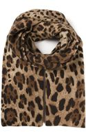 Dolce & Gabbana Leopard Printed Scarf - Lyst