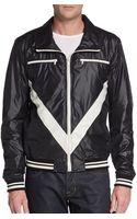Dolce & Gabbana Chevron Nylon Jacket - Lyst