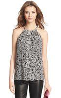 Diane Von Furstenberg Sleeveless Embellished Silk Halter Top - Lyst