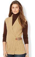 Lauren by Ralph Lauren Shawlcollar Bucked Sweater Vest - Lyst