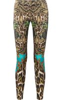 Just Cavalli Printed Cottonblend Skinny Pants - Lyst