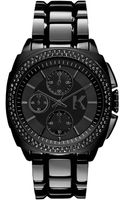 Karl Lagerfeld Unisex Chronograph Black Ionplated Stainless Steel Bracelet Watch 40mm - Lyst