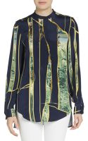 3.1 Phillip Lim Embellished Silk Blouse - Lyst