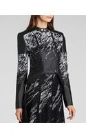BCBGMAXAZRIA  Luis Printed Faux Leather Moto  Jacket - Lyst