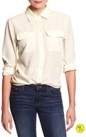 Banana Republic Factory Military Pocket Top - Lyst