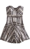 Twelfth Street Cynthia Vincent Basket Weave Corset Dress - Lyst