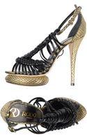 Rodo Snakeskin High-Heel Platform Sandals - Lyst