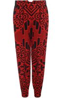 Alexander McQueen Patchwork Print Oversized Trousers - Lyst