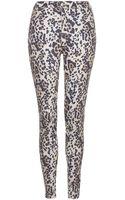 Topshop Moto Leopard Joni Jeans - Lyst