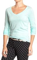 Old Navy Relaxed Slub-knit V-neck Tees - Lyst