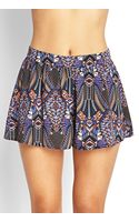 Forever 21 Abstract Woven Shorts - Lyst