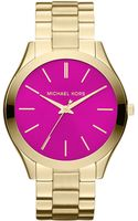 Michael Kors Ladies Goldtone Slim Runway Watch - Lyst